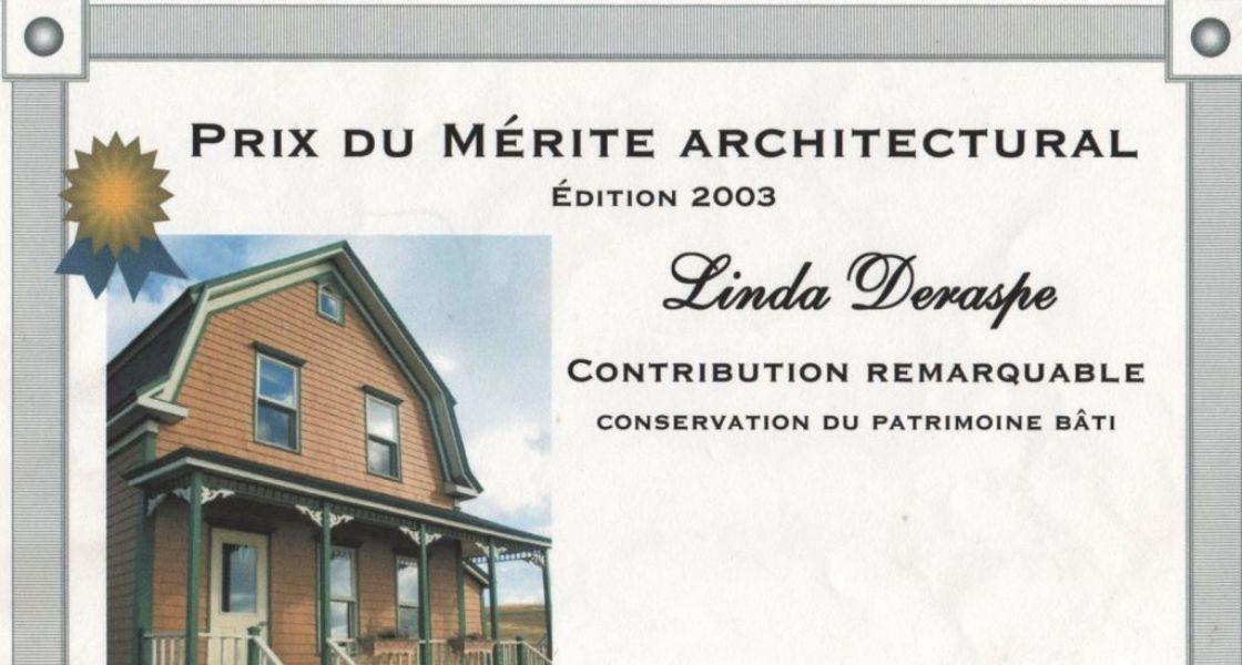 La Typique Aux Vents - Prix du mérite architectural
