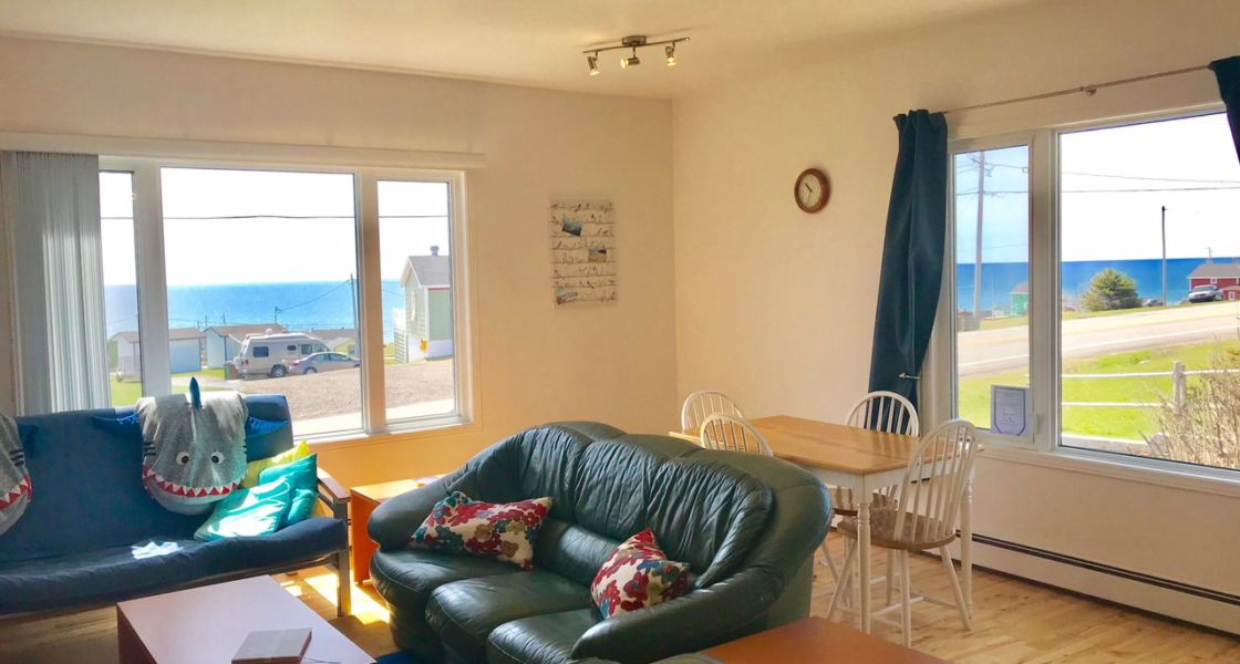 Maison Azur-Marine - Salon vue sur la mer